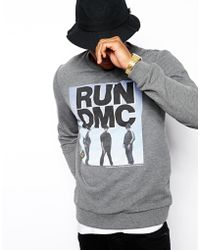 Asos Sweatshirt with Run Dmc Print - Lyst
