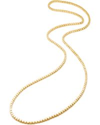 Eddie Borgo Mini Double-Sided Cube Necklace gold - Lyst