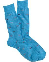 J.Crew Shades Socks blue - Lyst