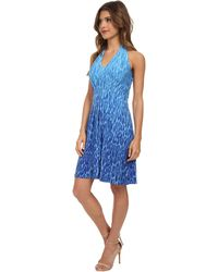 Catherine Catherine Malandrino Blue Becca Dress - Lyst