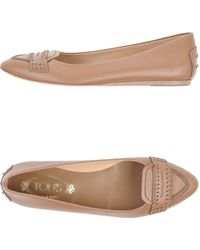 Tod's Brown Moccasins - Lyst
