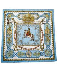 Hermes Preowned Lvdovicvs Magnvs Silk Scarf - Lyst