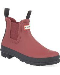 Hunter Original Chelsea Wellie Boots - For Women - Lyst