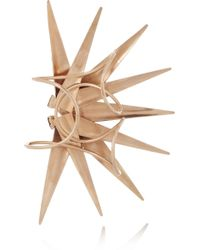 Vickisarge - Burma Rose Gold-Plated Swarovski Crystal Cuff - Lyst