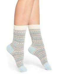 Pantherella | 'floria' Fair Isle Cashmere Blend Socks | Lyst