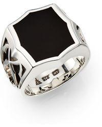 Stephen Webster Onyx Sterling Silver Signet Ring - Lyst