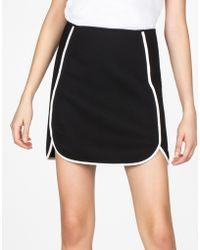 Cynthia Rowley Pique Knit Mini Skirt black - Lyst