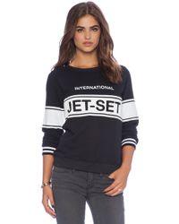 Zoe Karssen Jet Set Sweatshirt - Lyst