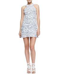 Rebecca Taylor Printed Flarehem Dress - Lyst