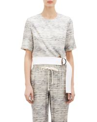 Wayne - Melange Belted Crop Top - Lyst