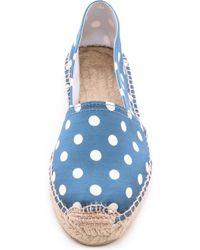 Penelope Chilvers - Polka Dot Espadrille Flats - Black - Lyst