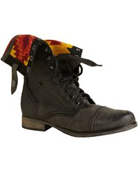 Steve Madden Chevie Laceup Leather Boots - Lyst