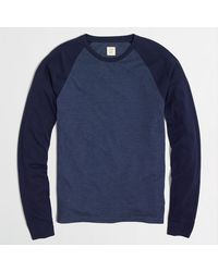 J.Crew Factory Long-sleeve Baseball Tee - Lyst