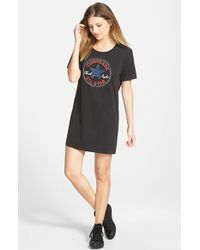 Converse - Graphic T-shirt Dress - Lyst