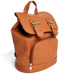 Asos Backpack with Double Buckle Detail - Lyst