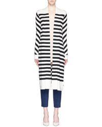 Diane von Furstenberg | 'carlisle' Stripe Silk Blend Open Front Cardigan | Lyst