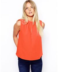 Asos Sleeveless Top with Keyhole Detail - Lyst