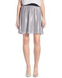Chelsea28 Nordstrom | Flouncy Metallic Skirt | Lyst