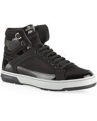 Ferragamo Nigel Patent Hi Top Sneakers - Lyst