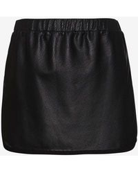 Thakoon Addition - Perforated Leather A-Line Skirt - Lyst