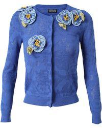 Meadham Kirchhoff - Floral Crochet Pointelle Cardigan - Lyst