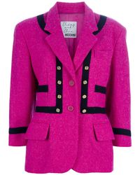 Moschino Wool Jacket - Lyst