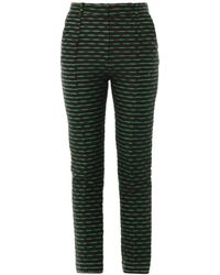 Jonathan Saunders Celeste Jacquard Tailored Trousers - Lyst