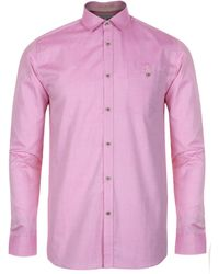 Ted Baker Jenspal Long Sleeve Oxford Shirt - Lyst