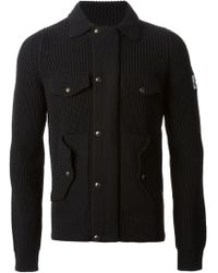 Moncler Gamme Bleu Zipped Front Fitted Cardigan - Lyst