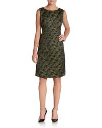 Lafayette 148 New York Embellished Wave-brocade Dress - Lyst