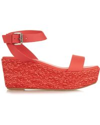 Weekend by Maxmara - Calabra Leather Sandals - Lyst