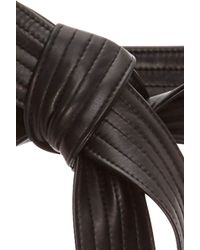 TOME - Black Leather Karate Belt - Lyst