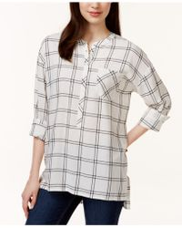 G.H.BASS - High-low Printed Blouse - Lyst