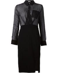 Altuzarra Sheer Gingham Shirt Dress black - Lyst
