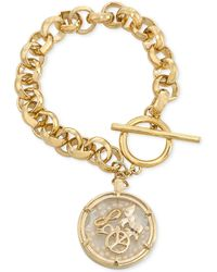 Carolee - Gold-Tone Shaky Peace Charm Bracelet - Lyst