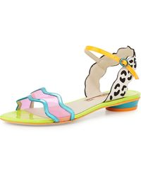 Sophia Webster Patti Multicolored Leather Flat Sandal - Lyst