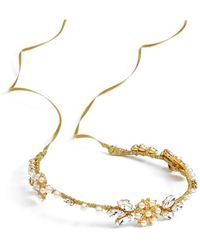 Nestina Accessories | 'elna' Crystal Vine Head Piece - Metallic | Lyst