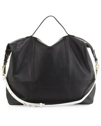 Twelfth Street by Cynthia Vincent Taltha Leather Satchel Bag Blackwhite - Lyst