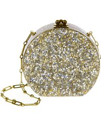 Edie Parker Oscar Solid in Silver and Gold Confetti