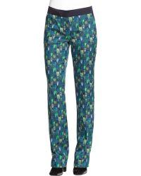 Tory Burch Nissa Wool/Silk Pants - Lyst