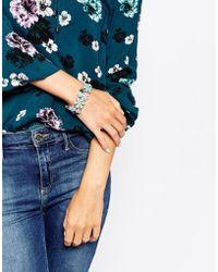 Oasis - Mini Stretch Floral Bracelet - Lyst