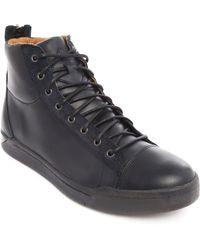 Diesel Diamond Navy Leather Sneakers - Lyst