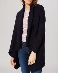 Maje Cardigan - Mevin Suede Detail - Lyst