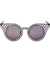 House Of Holland Cagefighter Metal Sunglasses - Lyst