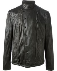 John Varvatos Distressed Biker Jacket - Lyst
