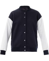 Tibi Contrast Quilted Bomber Jacket - Lyst