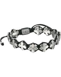 King Baby Studio Black Macrame Bracelet W/ Alloy Mb Crosses - Lyst