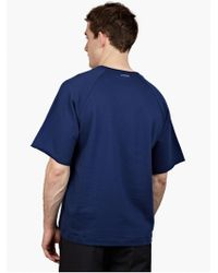 Jil Sander Men'S Blue Short-Sleeved Cotton Sweatshirt blue - Lyst