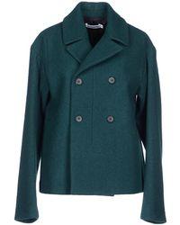 Jil Sander Coat green - Lyst