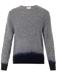 Acne Studios Chet Dip-dye Wool Sweater - Lyst